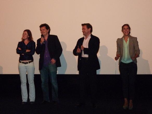 Martine Fontaine (scénariste), Bernard Jeanjean (réalisateur), Clovis Cornillac (acteur) et Olivia Bonamy (actrice)
