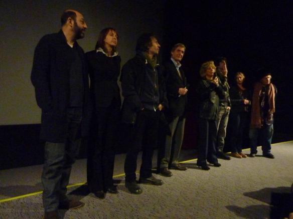 """L'équipe du film """"Des gens qui s'embrassent"""" lors de l'avant-première au Gaumont Opéra Capucines"""